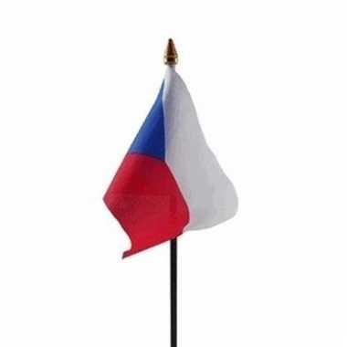 Tsjechie luxe zwaaivlaggetje polyester