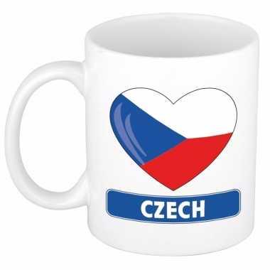Tsjechische vlag hart mok / beker 300 ml
