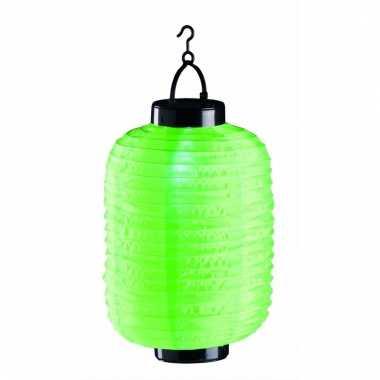 Tuin / balkon lampion op zonne energie groen