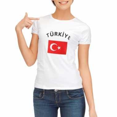Turkse vlaggen t-shirt voor dames