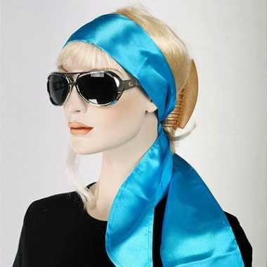 Turquoise hoofdsjaals voor dames