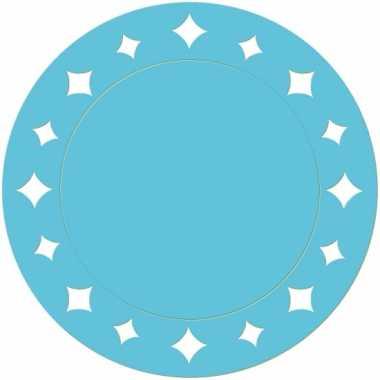 Turquoise kartonnen placemats 33 cm
