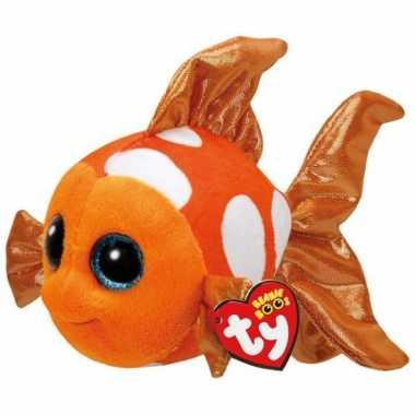 Ty beanie knuffeltje clownvis met kraalogen 15 cm