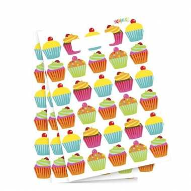 Uitdeelzakjes cupcake 6 stuks