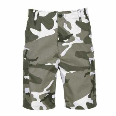Urban camouflage shorts voor heren