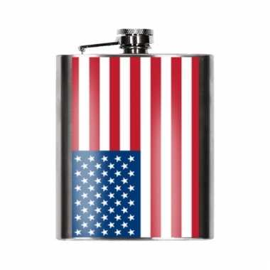 Usa vlag heupfles 200 ml