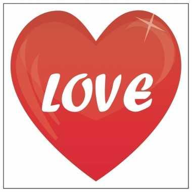 Valentijn sticker love 10,5 cm