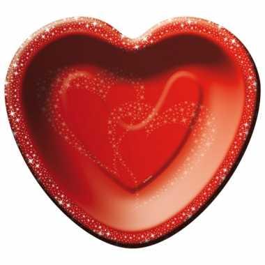 Valentijnsdag bordjes 8 stuks