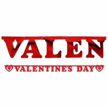 Valentines day wensslinger rood