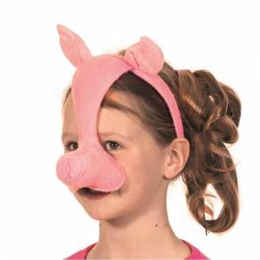 Varkens party masker roze