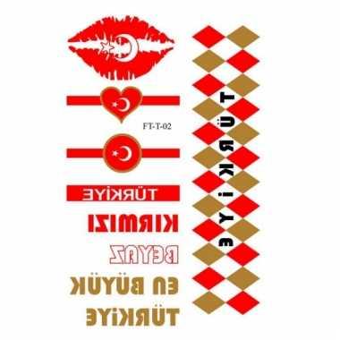 Velletje met turkije 3d tattoos