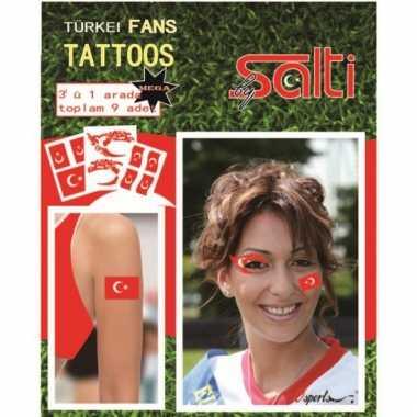 Velletje met turkije tattoos 9 stuks