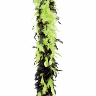 Veren boa lime groen/zwart 180 cm