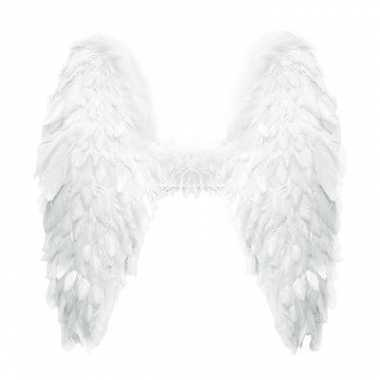 Veren vleugels wit 60 cm