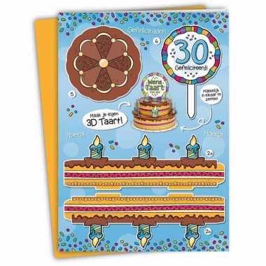 Verjaardag 30 jaar xxl taartkaart