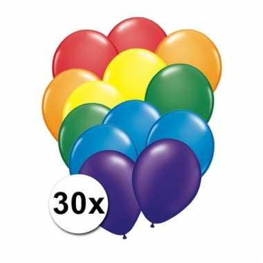 Verjaardag ballonnen regenboog 30 x