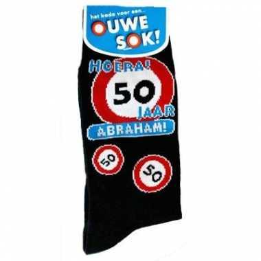Verjaardag sokken abraham 50 jaar