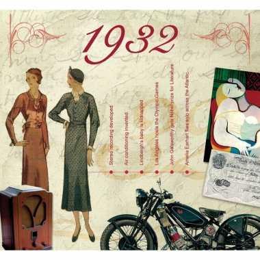Verjaardagskaart met geboorte jaar 1932