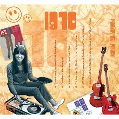 Verjaardagskaart met geboorte jaar 1970