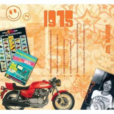 Verjaardagskaart met geboorte jaar 1975