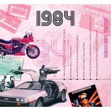 Verjaardagskaart met geboorte jaar 1984