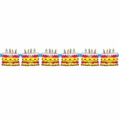 Verjaardagsslinger taart 3 meter