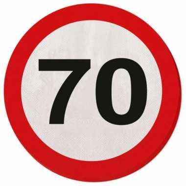 Verkeersborden servetten 70 jaar