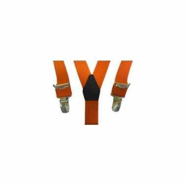 Verkleed bretels oranje voor meisjes