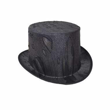 Verkleed dracula/vampier hoge hoed voor volwassenen