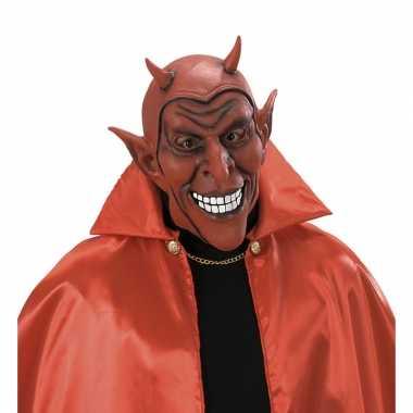 Verkleed eng duivel masker van latex