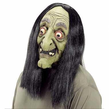 Verkleed eng heks masker van latex