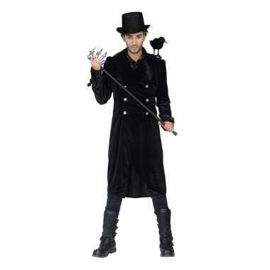 Verkleed mantel/jas zwart mannen