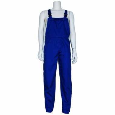 Verkleed tuinbroek blauw voor volwassenen