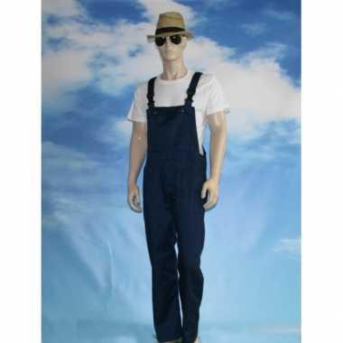 Verkleed tuinbroek navy voor volwassenen