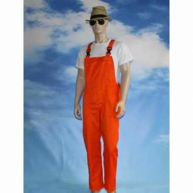 Verkleed tuinbroek oranje voor volwassenen