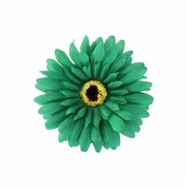Verkleedaccessoires haarbloem groen