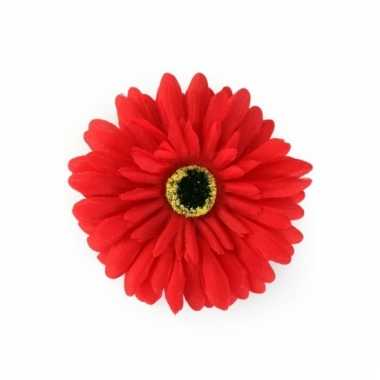 Verkleedaccessoires haarbloem rood