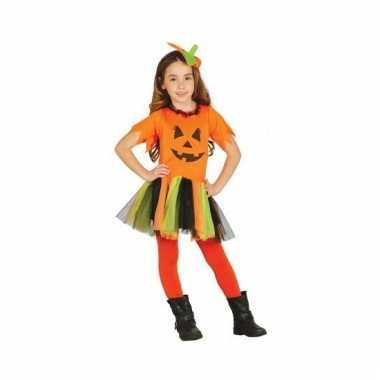 Verkleedkleding voor kinderen pompoen jurkje