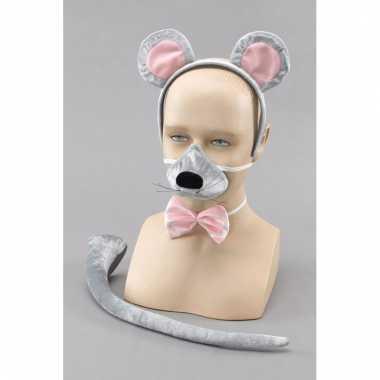 Verkleedset grijze muis