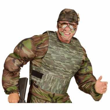 Verkleedvest camouflage voor volwassenen