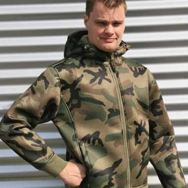 Vest met groene camouflage print