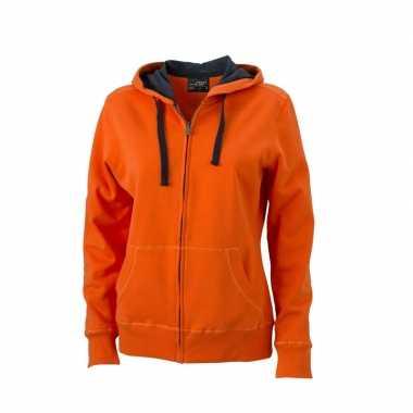 Vest voor dames oranje