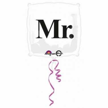 Vierkante folie ballon met tekst mr