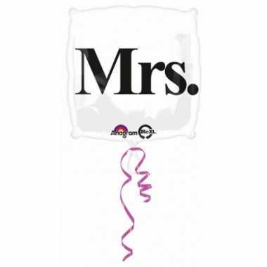 Vierkante folie ballon met tekst mrs