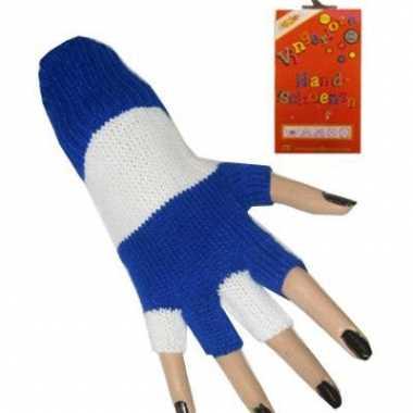 Vingerloze handschoenen gestreept