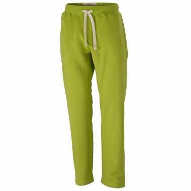 Vintage joggingbroeken lime groen met zakken voor heren