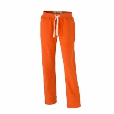 Vintage joggingbroeken oranje met zakken voor dames