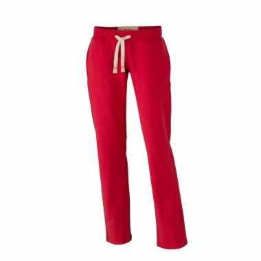 Vintage joggingbroeken rood met zakken voor dames