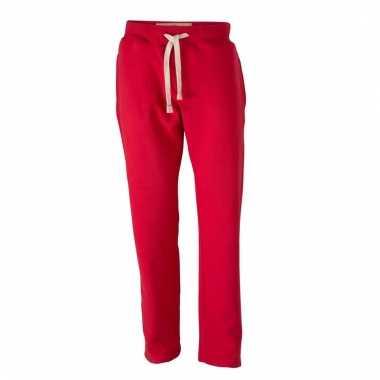 Vintage joggingbroeken rood met zakken voor heren