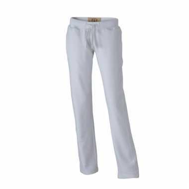 Vintage joggingbroeken wit met zakken voor dames